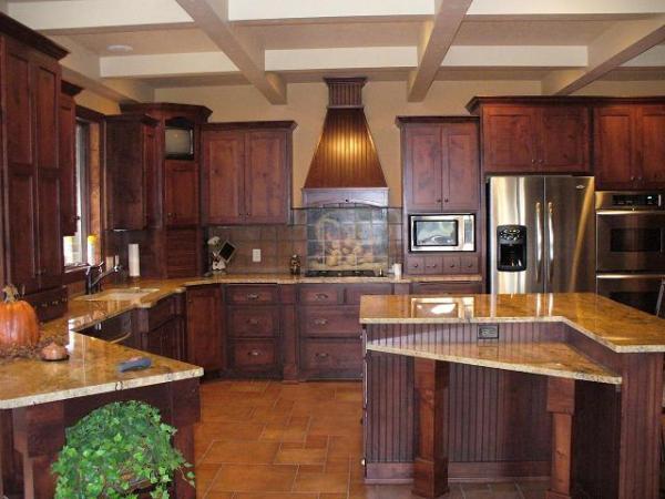 Knotty Alter Kitchen. Since 1975, Kills Custom Cabinets ...